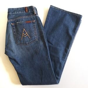 7 For All Mankind Boot Cut A Pocket Sz 28